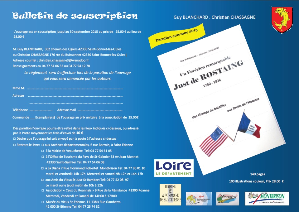 Bulletin de participation just de rostaing