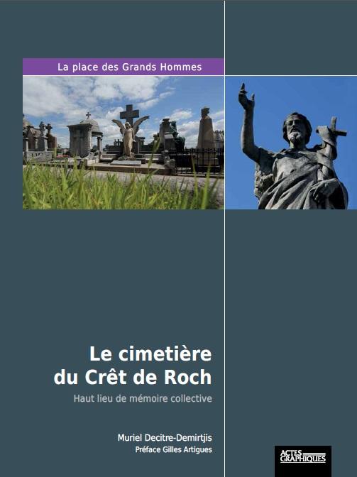 Couverture du livre sur le cimetiere du cret de roch photo dr